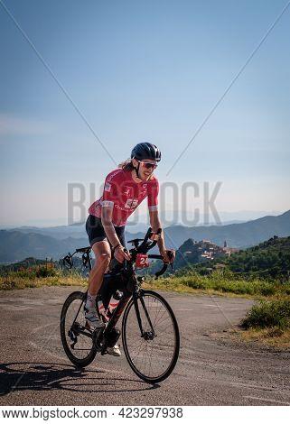 Speloncato, Corsica, France - 9th June 2021: Stéphane Lombard Competes In The 2021 Bikingman Corsica