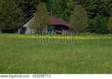 Old Barn On A Farm In The Countryside