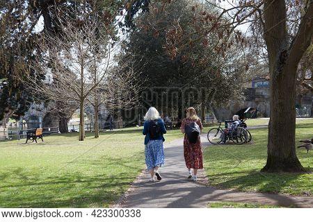 Bridge Gardens In Maidenhead, Berkshire In The Uk, Taken On The 30th March 2021