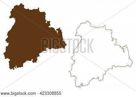 Altenburger Land District (federal Republic Of Germany, Rural District, Free State Of Thuringia) Map