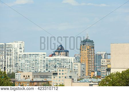 Beautiful View Of Cityscape With Modern Buildings. Urban Architecture