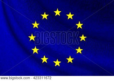 European Union Or Eu Flag Waving For Background And Texture , Eu Is Business Corporate From Europe C