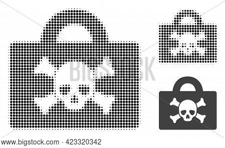 Mortal Case Halftone Dotted Icon. Halftone Array Contains Circle Points. Vector Illustration Of Mort