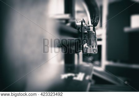 3d Printing Technology Concept. Toned Image Of 3d Printer.