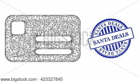 Vector Net Mesh Banking Card Model, And Santa Deals Blue Rosette Unclean Seal Print. Crossed Carcass