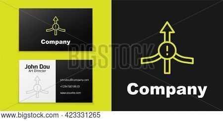 Logotype Line Arrow Icon Isolated On Black Background. Direction Arrowhead Symbol. Navigation Pointe