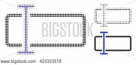 Text Field Halftone Dotted Icon. Halftone Array Contains Circle Pixels. Vector Illustration Of Text