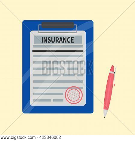 Clipboard With Medical Insurance Claim Form On It
