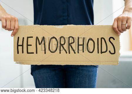Adult Hemorrhoid Pain And Hygiene. Health Care