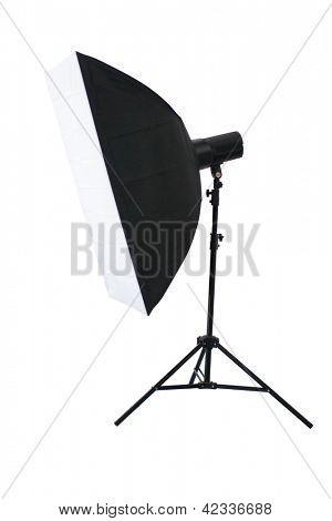 Studio lighting isolated on the white background