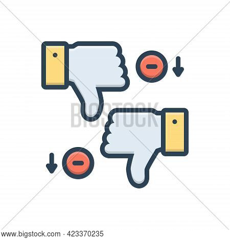 Color Illustration Icon For Disadvantages Unlike Thumb Loss Deficit Scathe