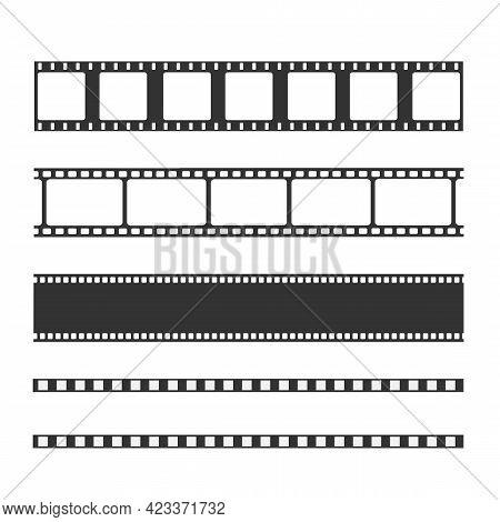 Film Strip Templates. Negative And Strip, Media Filmstrip. Film Roll Vector, Film 35mm, Slide Film F
