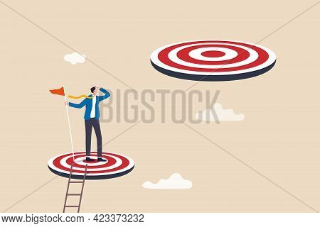 Challenge Achievement Or Higher Target, The Way Forward Or Next Level, Bigger Business Goal Or Aspir