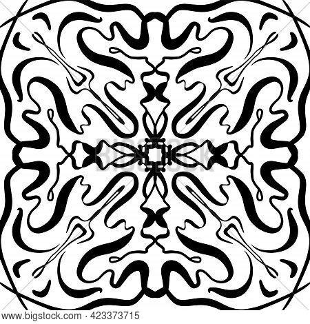 Abstract Geometric Seamless Pattern. Black And White Pattern