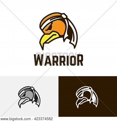 Headband Eagle Hawk Warrior Game Cartoon Character Logo