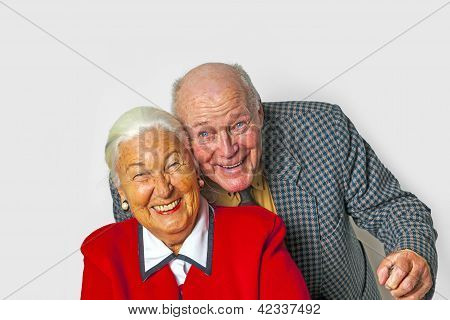 Happy Elderly Couple Enjoy Life