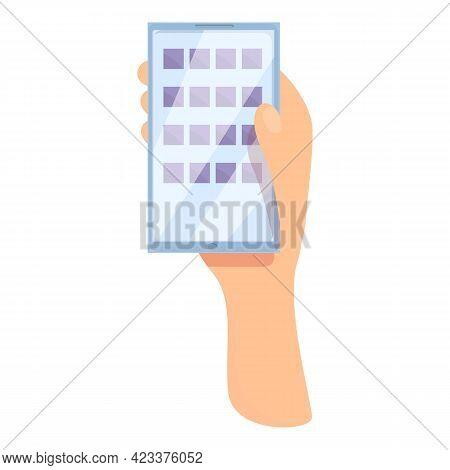Futuristic Smartphone Icon. Cartoon Of Futuristic Smartphone Vector Icon For Web Design Isolated On