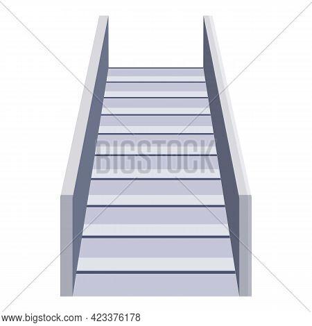 Airport Escalator Icon. Cartoon Of Airport Escalator Vector Icon For Web Design Isolated On White Ba