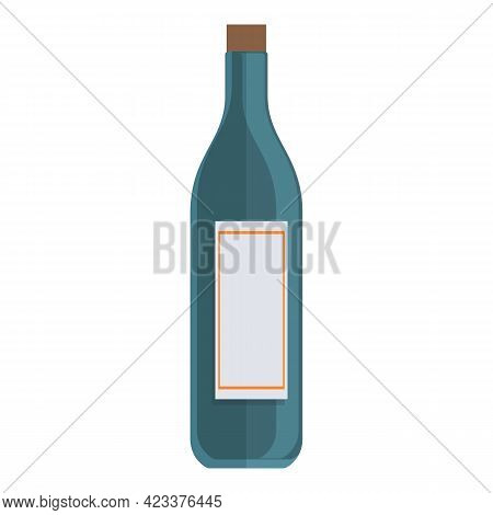 First Class Travel Wine Bottle Icon. Cartoon Of First Class Travel Wine Bottle Vector Icon For Web D