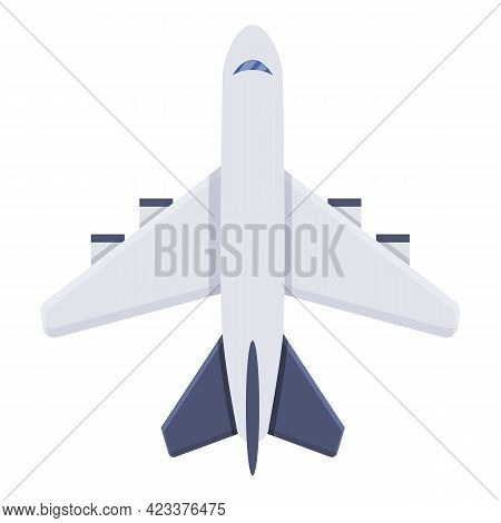 First Class Travel Airplane Icon. Cartoon Of First Class Travel Airplane Vector Icon For Web Design