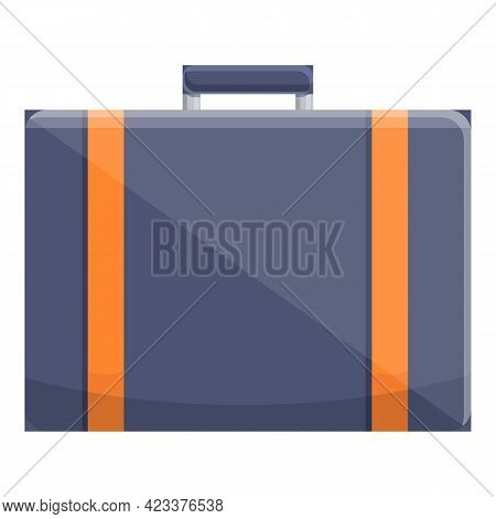First Class Suitcase Icon. Cartoon Of First Class Suitcase Vector Icon For Web Design Isolated On Wh