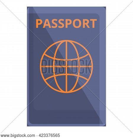 International Passport Icon. Cartoon Of International Passport Vector Icon For Web Design Isolated O