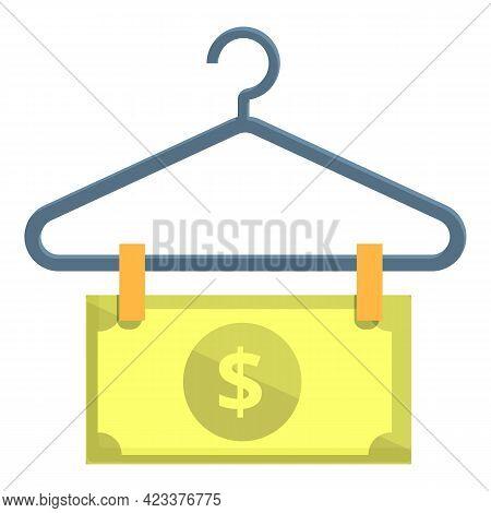 Money Hanger Anti-money Laundry Icon. Cartoon Of Money Hanger Anti-money Laundry Vector Icon For Web