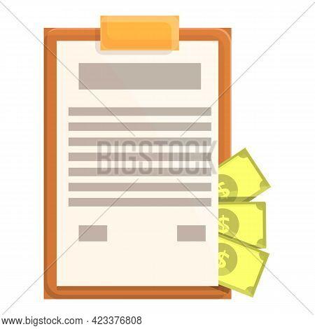 Clipboard Anti-money Laundry Icon. Cartoon Of Clipboard Anti-money Laundry Vector Icon For Web Desig