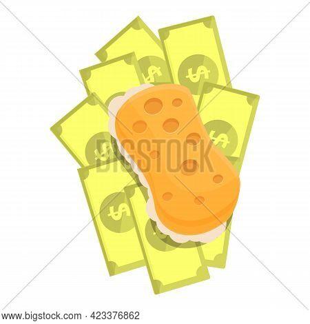 Sponge Anti-money Laundry Icon. Cartoon Of Sponge Anti-money Laundry Vector Icon For Web Design Isol