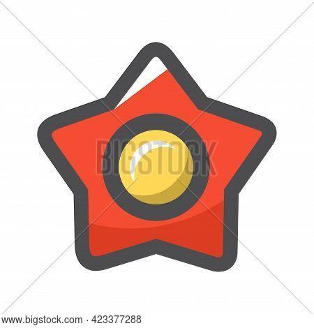 Red Communism Soviet Star Vector Icon Cartoon Illustration