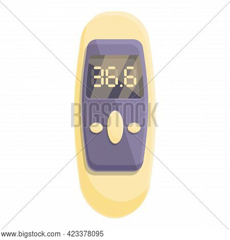 Electronic Laser Thermometer Icon. Cartoon Of Electronic Laser Thermometer Vector Icon For Web Desig