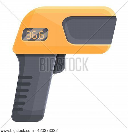 Laser School Thermometer Icon. Cartoon Of Laser School Thermometer Vector Icon For Web Design Isolat