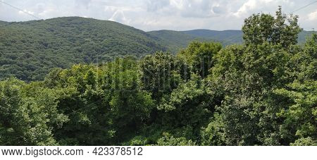 Vrdnik, Sremska Mitrovica, Vojvodina, Serbia. Mountain Gave. View From The Ancient Fortress To The M