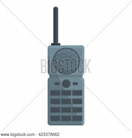 Walkie Talkie Icon. Cartoon Of Walkie Talkie Vector Icon For Web Design Isolated On White Background