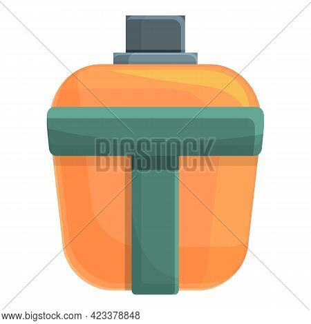 Flask For Expeditions Icon. Cartoon Of Flask For Expeditions Vector Icon For Web Design Isolated On