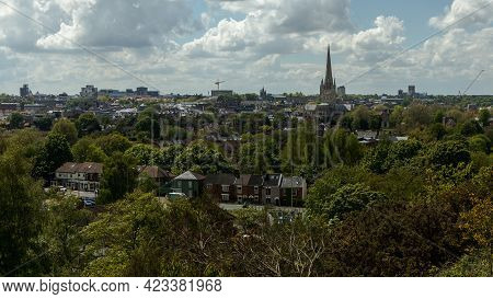 High View Over Norwich City (norfolk, United Kingdom)
