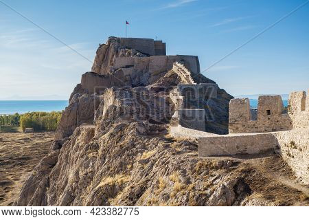 Fortifications & Citadel Of Van Fortress, Van, Turkey. It Was Found In 9 Century Bc By Urartians. No
