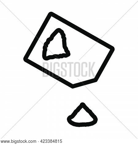 Seasoning Package Icon. Bold Outline Design With Editable Stroke Width. Vector Illustration.