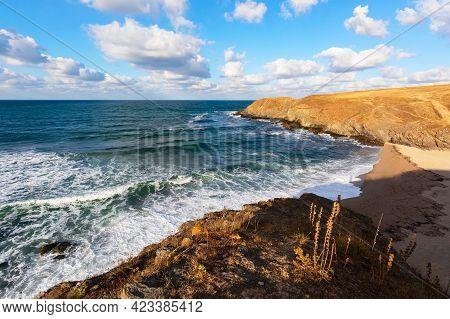 Beautiful Black Sea Landscape Near The Village Of Sinemorets, Veleka Beach, Bulgaria.