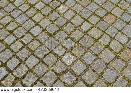 The Background Of The Old Textured Cobblestone Pavement