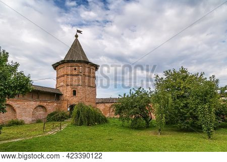 Wall And Tower In Archangel Michael Monastery, Yuryev-polsky, Russia