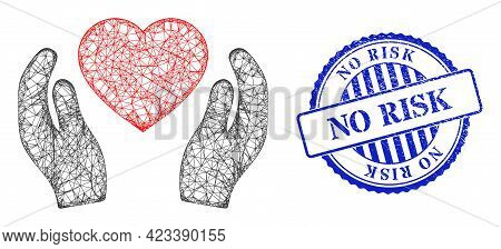 Vector Net Romantic Heart Care Hands Carcass, And No Risk Blue Rosette Dirty Seal. Hatched Carcass N