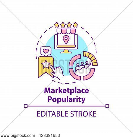 Marketplace Popularity Concept Icon. Reaching Large Audience Abstract Idea Thin Line Illustration. I