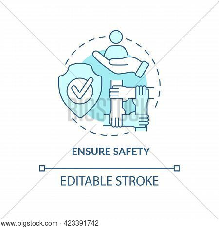 Ensure Safety Concept Icon. Racism At Work Abstract Idea Thin Line Illustration. Promoting Racial Eq