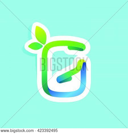 G Letter Flow Line Eco Logo With Green Leaves. Vector Green Icon Perfect To Use In Your Agriculture