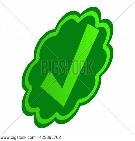 Approved Symbol Icon. Isometric Illustration Of Approved Symbol Vector Icon For Web