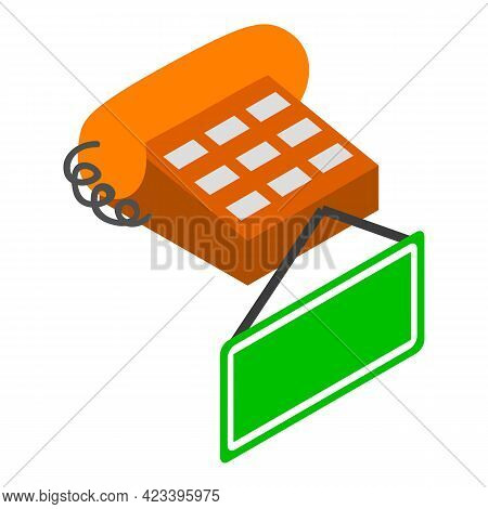 Help Desk Icon. Isometric Illustration Of Help Desk Vector Icon For Web