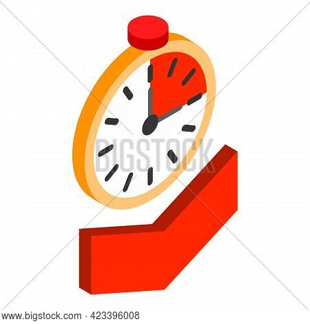 Time Down Icon. Isometric Illustration Of Time Down Vector Icon For Web