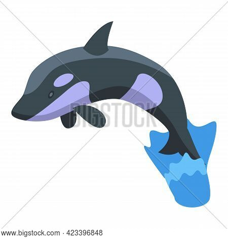 Killer Whale Icon. Isometric Of Killer Whale Vector Icon For Web Design Isolated On White Background