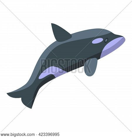 Killer Whale Fast Icon. Isometric Of Killer Whale Fast Vector Icon For Web Design Isolated On White